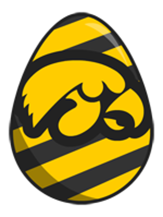 ~~Iowa Hawkeye Egg Cross Stitch Pattern~~**free Shipping** - Iowa Hawkeye, Transparent background PNG HD thumbnail