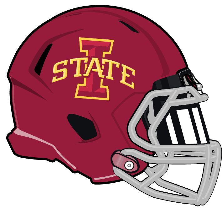 Iowa State Cyclones Football Helmet With Logo: Big 12 Conference - Iowa State Cyclones, Transparent background PNG HD thumbnail