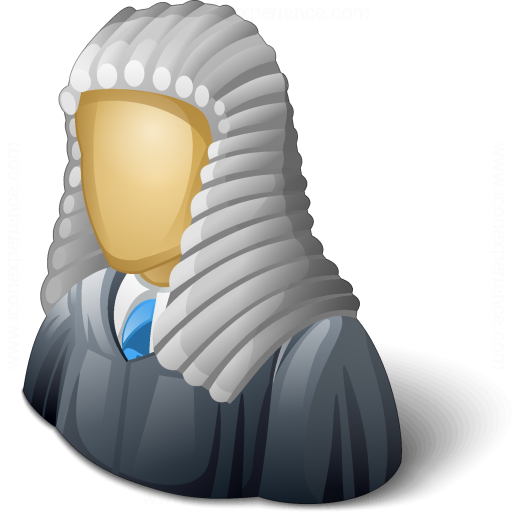 Judge Wig Icon - Judge Wig, Transparent background PNG HD thumbnail