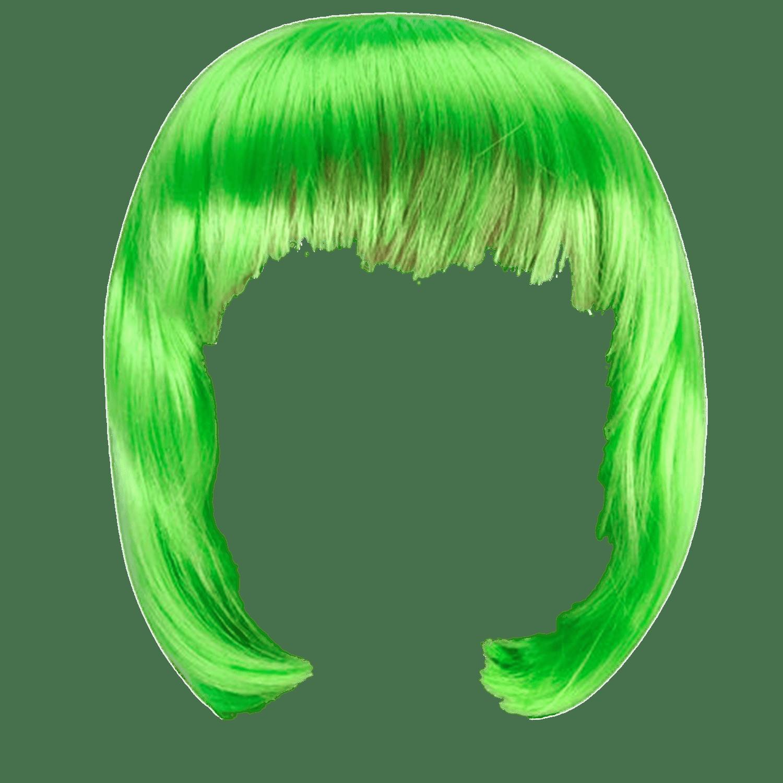 Wig Green Bob - Judge Wig, Transparent background PNG HD thumbnail