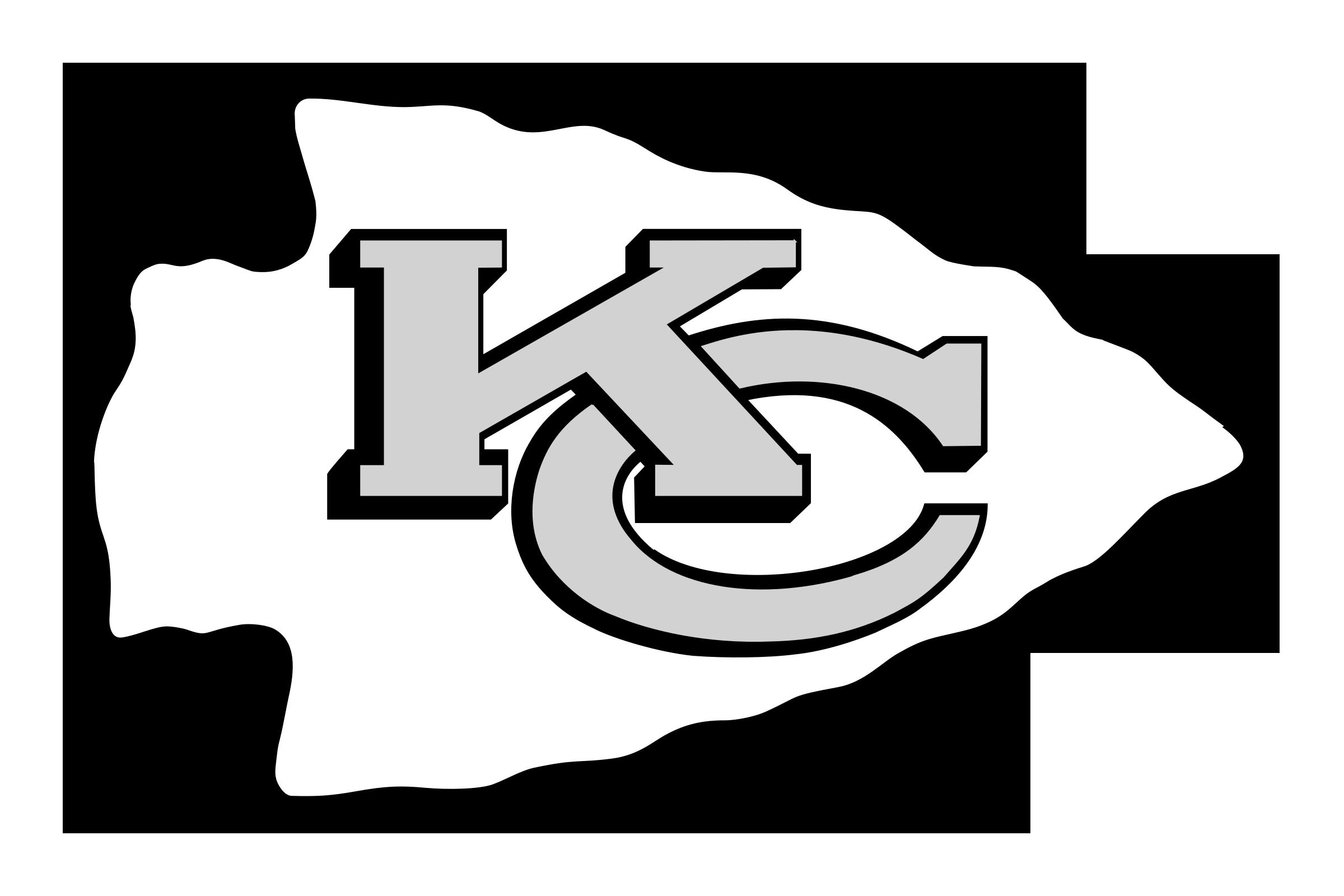 Kansas City Chiefs Logo Black And White - Kansas City Chiefs, Transparent background PNG HD thumbnail