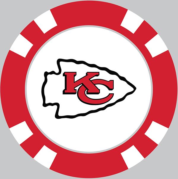 Kansas City Chiefs Poker Chip Ball Marker - Kansas City Chiefs, Transparent background PNG HD thumbnail