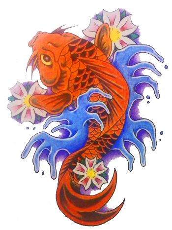 Koi Fish Tattoo Designs | Koi Fish Tattoos Designs Ywd09 1 - Fish Tattoos, Transparent background PNG HD thumbnail