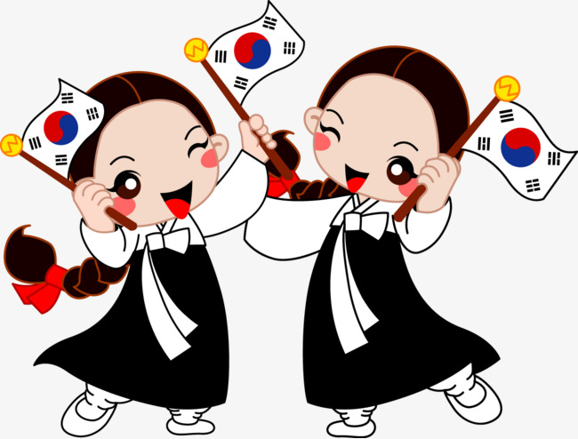 South Korea Little Girl Free Png And Vector - Korea, Transparent background PNG HD thumbnail