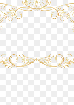 Vintage Gold Lace Border Vector, Retro, Golden, Lace Png And Vector - Laceborder, Transparent background PNG HD thumbnail