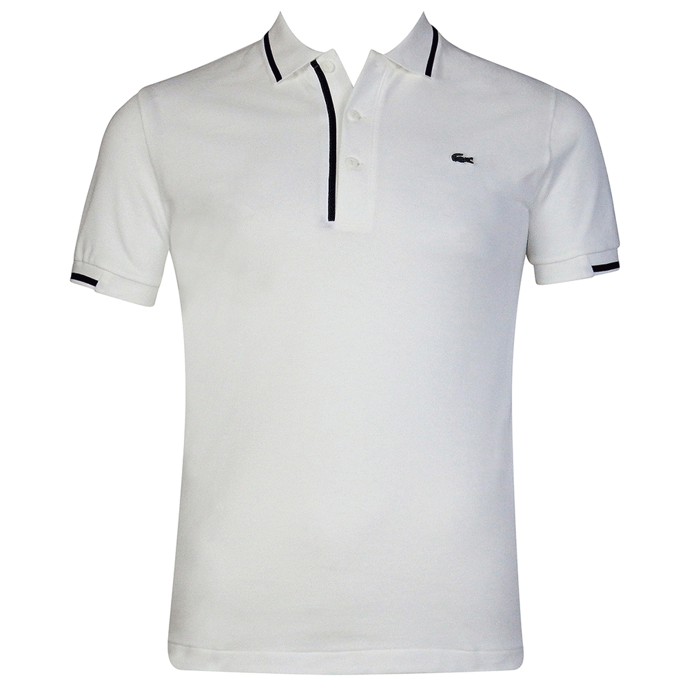 Lacoste Lacoste Stretch Fit Polo Shirt   White - Polo Shirt, Transparent background PNG HD thumbnail