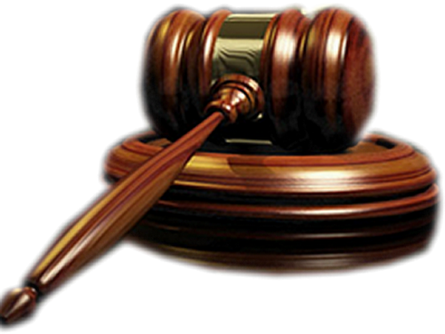 Injunctions / Tros - Law Hammer, Transparent background PNG HD thumbnail