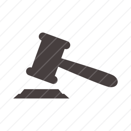 Judge Hammer, Justice, Hammer, Law Hammer, Judge, Court, Judicatur Icon - Law Hammer, Transparent background PNG HD thumbnail