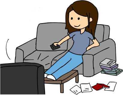 Lazy Girl Coworker Clipart - Lazy Kid, Transparent background PNG HD thumbnail