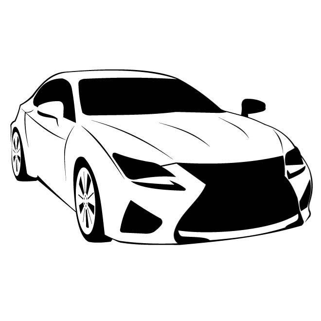 Car Model Lexus Rc F Vector   Lexus Auto Logo Vector Png - Lexus Auto Vector, Transparent background PNG HD thumbnail