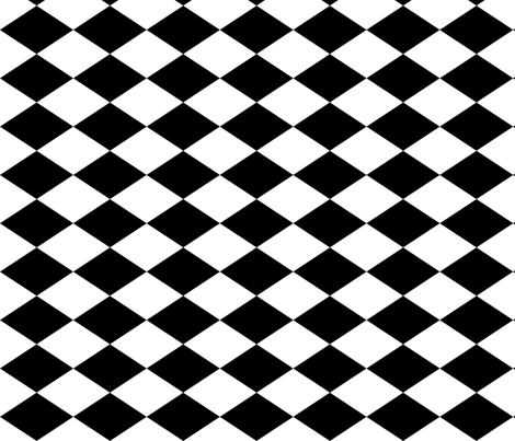 Large Harlequin Check In Black And White Fabric By Charmcitycurios On Spoonflower   Custom Fabric - Lkw Black And White, Transparent background PNG HD thumbnail