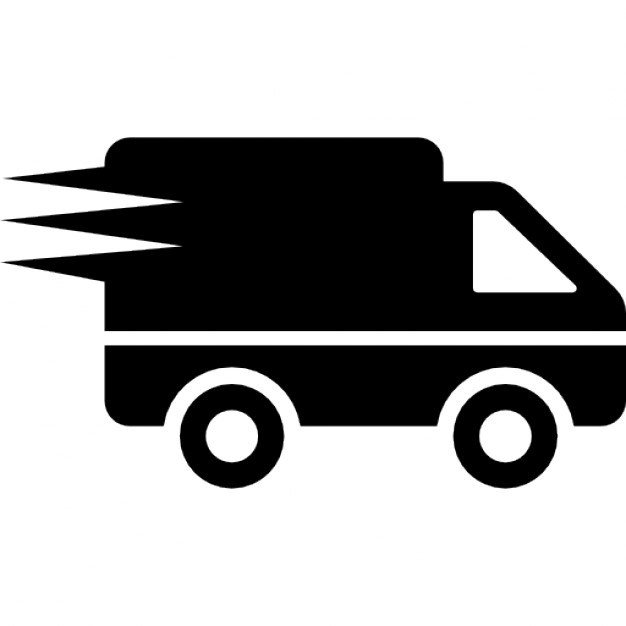 Mail Carrier Clipart Black And White - Lkw Black And White, Transparent background PNG HD thumbnail