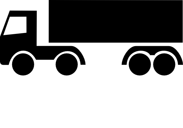 Png: Small · Medium · Large - Lkw Black And White, Transparent background PNG HD thumbnail
