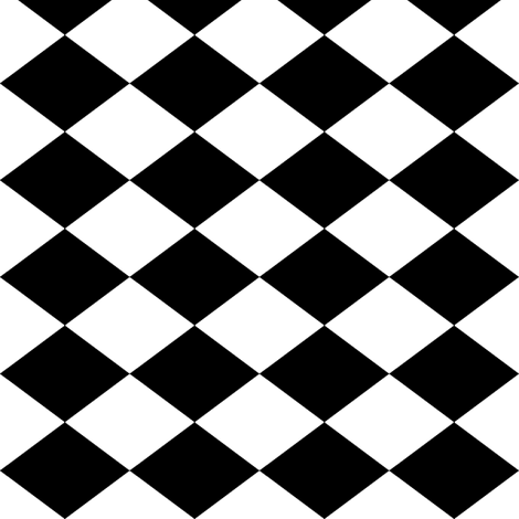 Small Harlequin Check In Black And White Fabric By Charmcitycurios On Spoonflower   Custom Fabric - Lkw Black And White, Transparent background PNG HD thumbnail