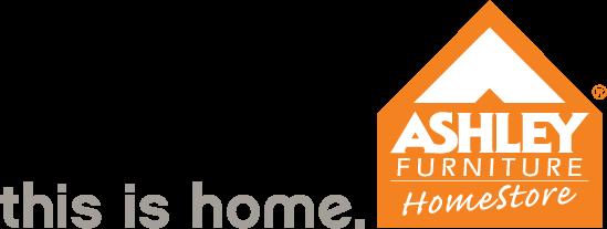 Logo Ashley Furniture Png - Camp Sign Ashley_Logo_Org_Grey_Tag_Left_, Transparent background PNG HD thumbnail