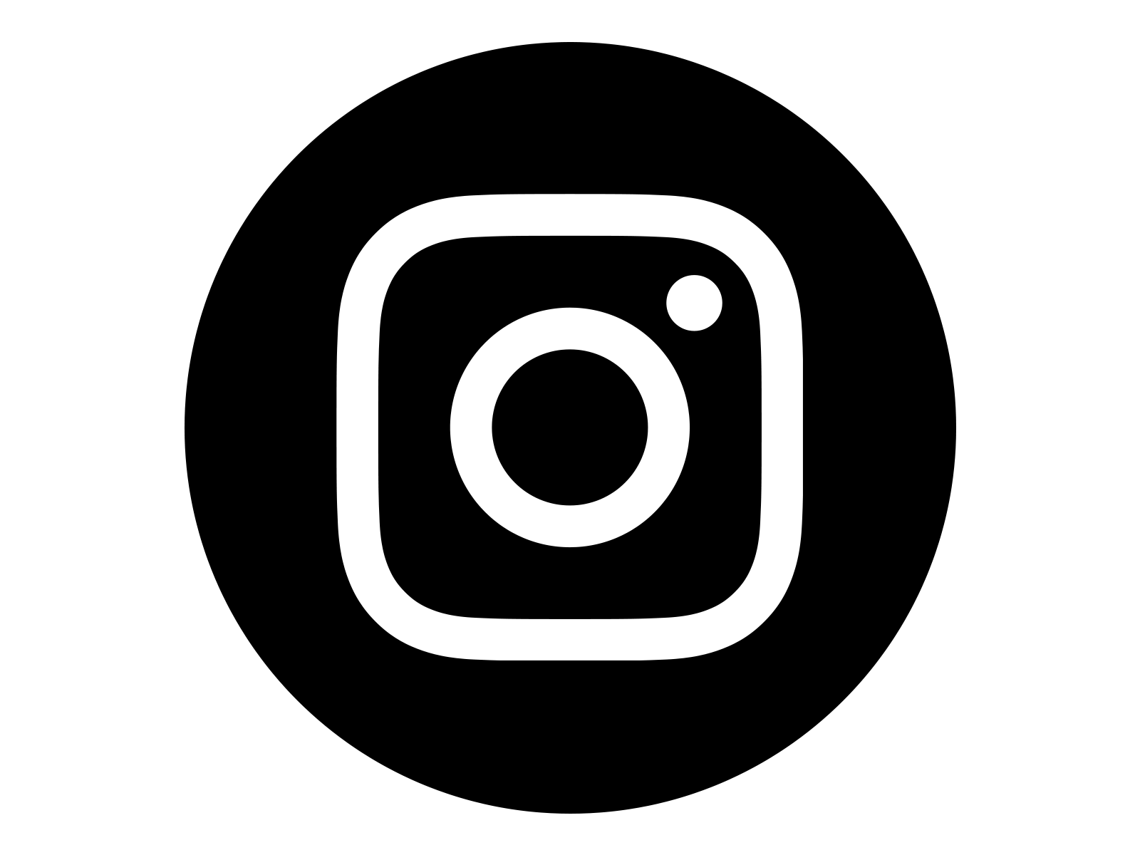 Logo Instagram Png - Instagram Icon White On Black Circle, Transparent background PNG HD thumbnail