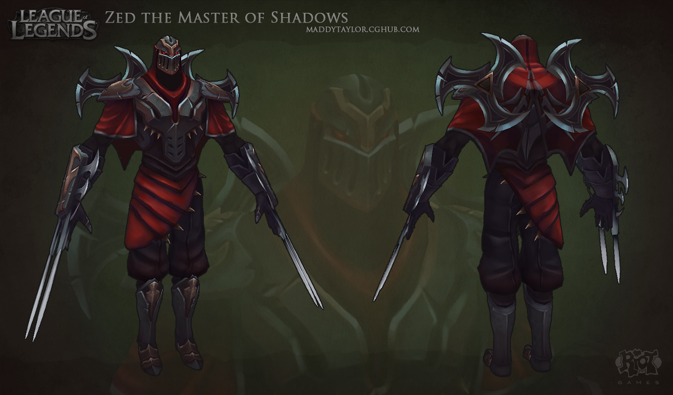Lol: Zed The Master Of Shadows By Missmaddytaylor - Zed The Master Of Shadows, Transparent background PNG HD thumbnail