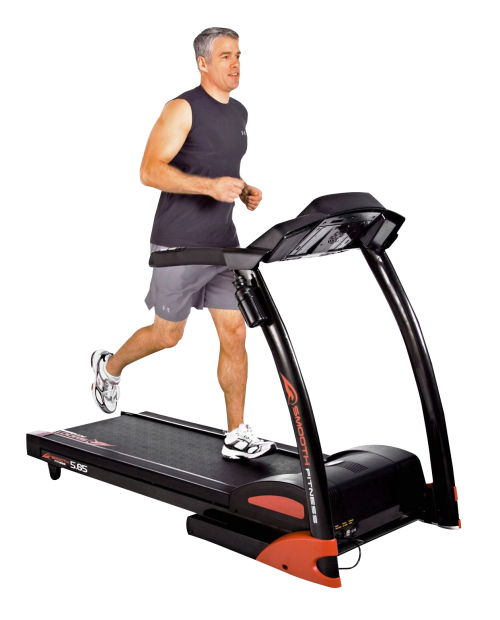 Man Running In Treadmill Png Transparent Image - Treadmil, Transparent background PNG HD thumbnail
