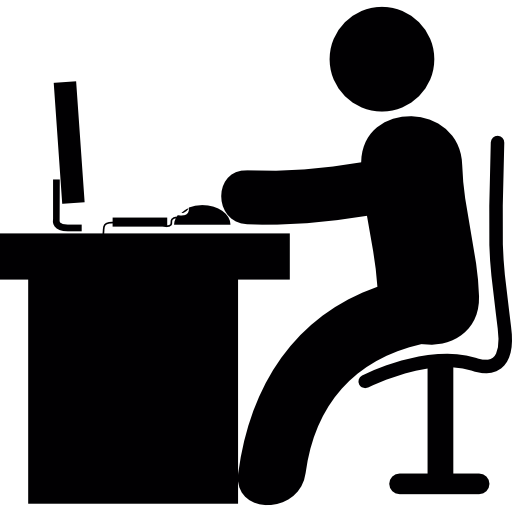 Man Using Computer PNG