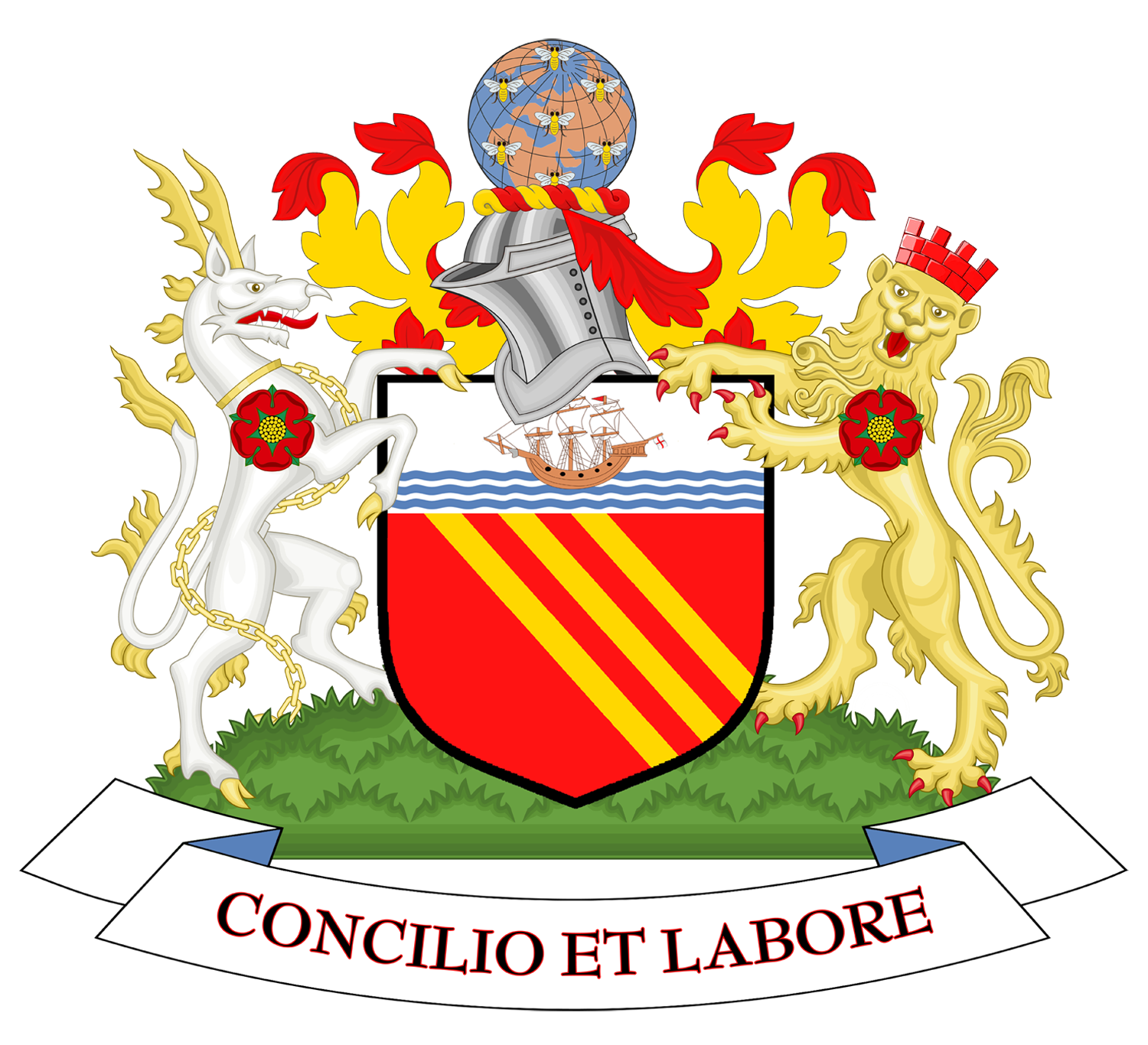 Coat Of Arms Of Manchester City Council.png - Manchester City, Transparent background PNG HD thumbnail