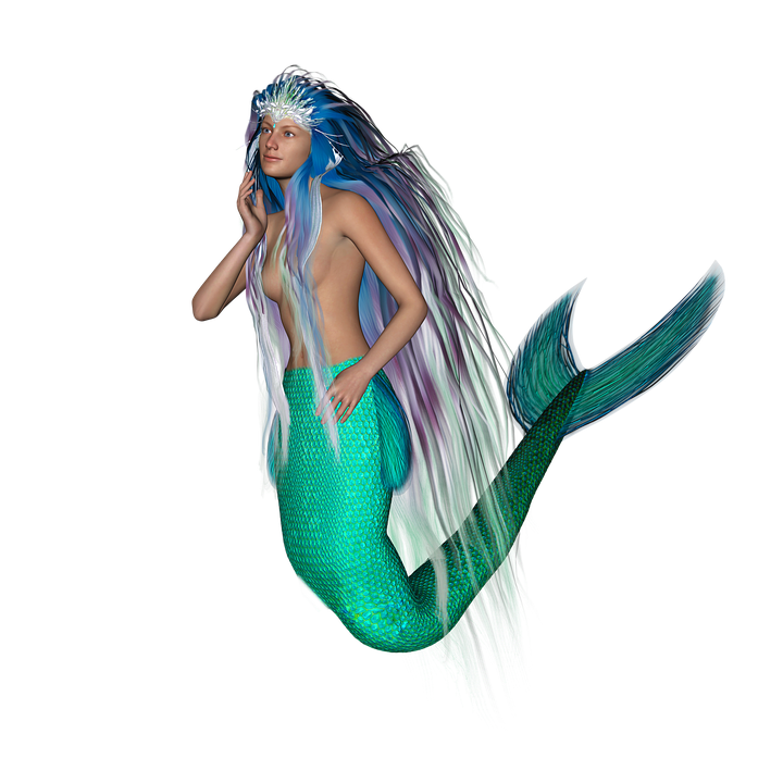 Mermaid, Mermaid Tail, Mythical Creatures, Fairy Tales - Mermaid, Transparent background PNG HD thumbnail