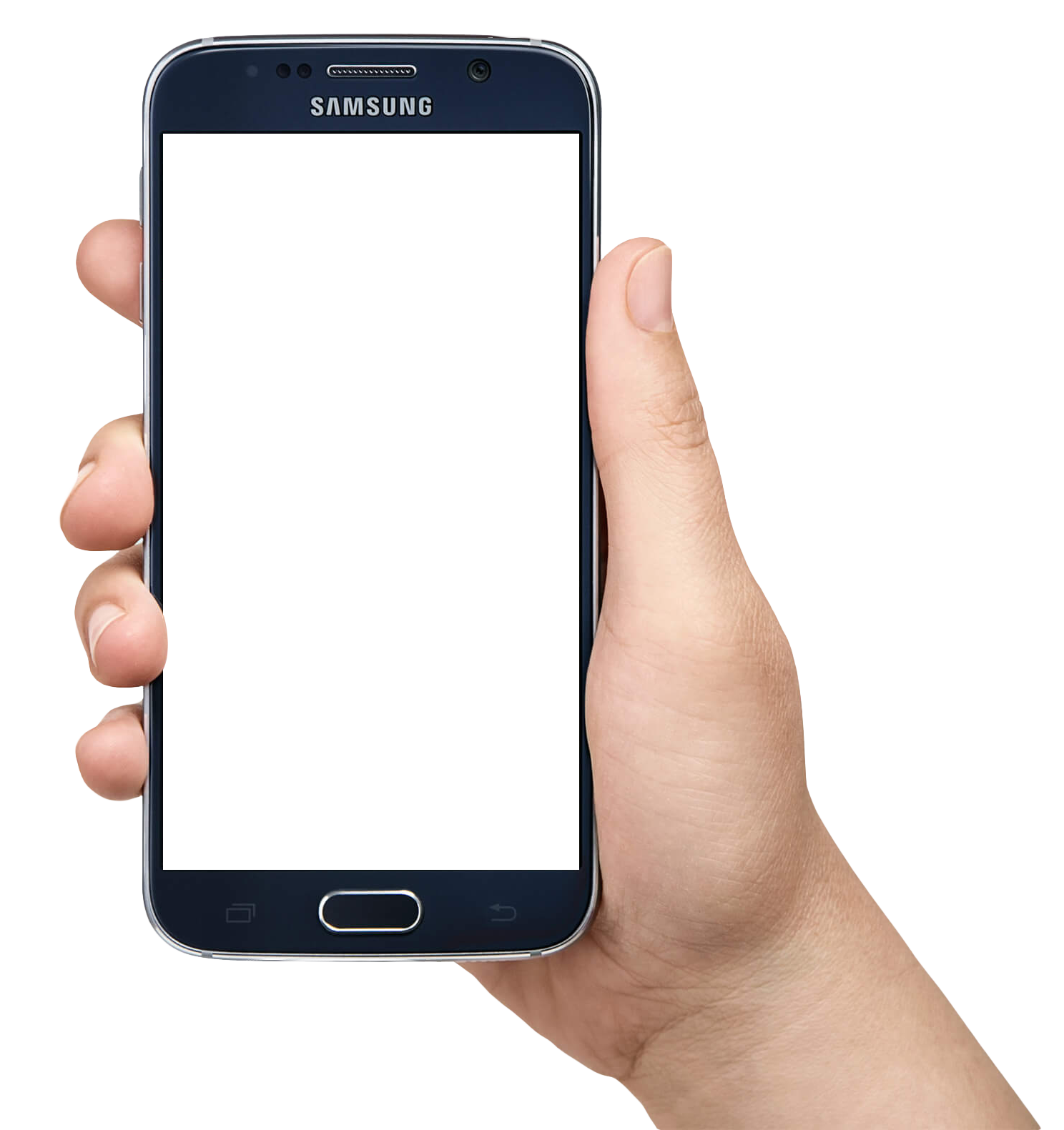 Mobile In Hand PNG - Hand Holding Smartphon