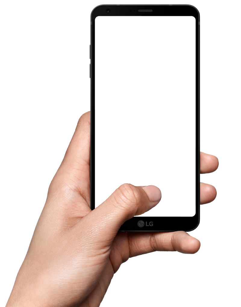 Hand Holding Smartphone PNG I