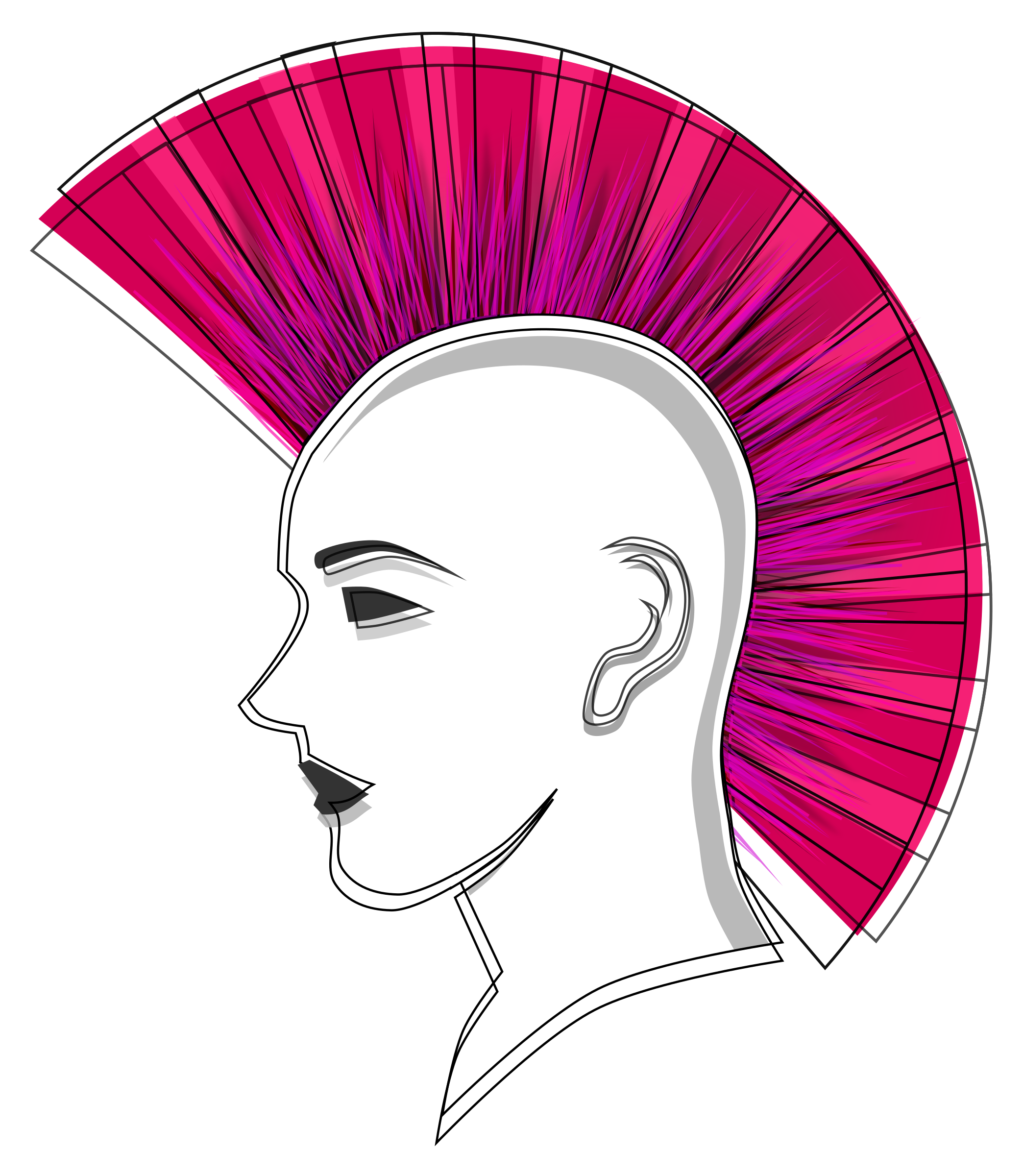 Mohawk Hair Png - Big Image (Png), Transparent background PNG HD thumbnail