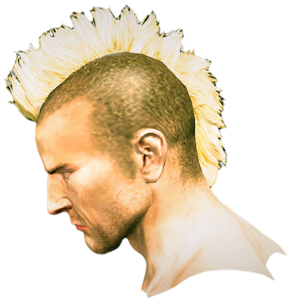 Mohawk Hair Png - Dead Rising Mohawk Hair 2 Side.png, Transparent background PNG HD thumbnail