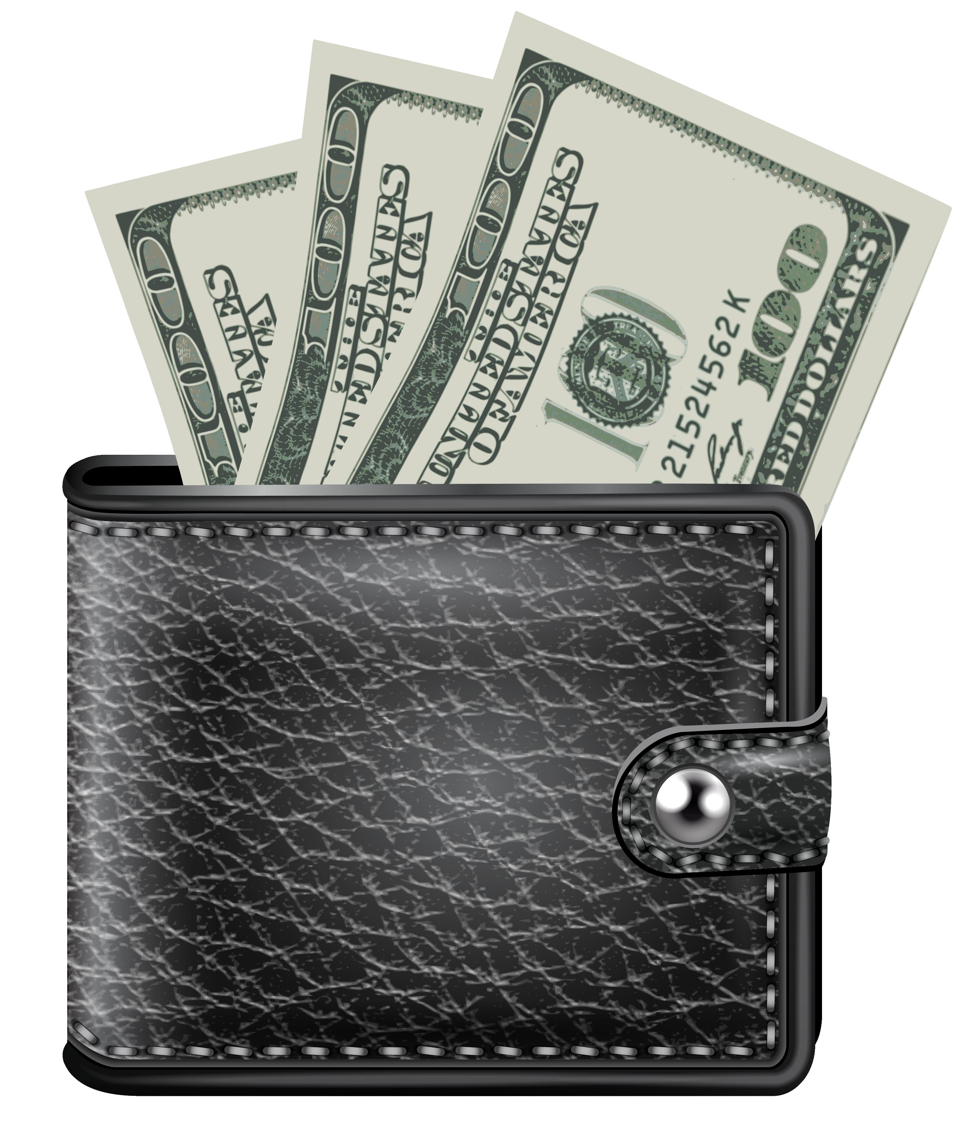 Purse Money Png Image - Money, Transparent background PNG HD thumbnail