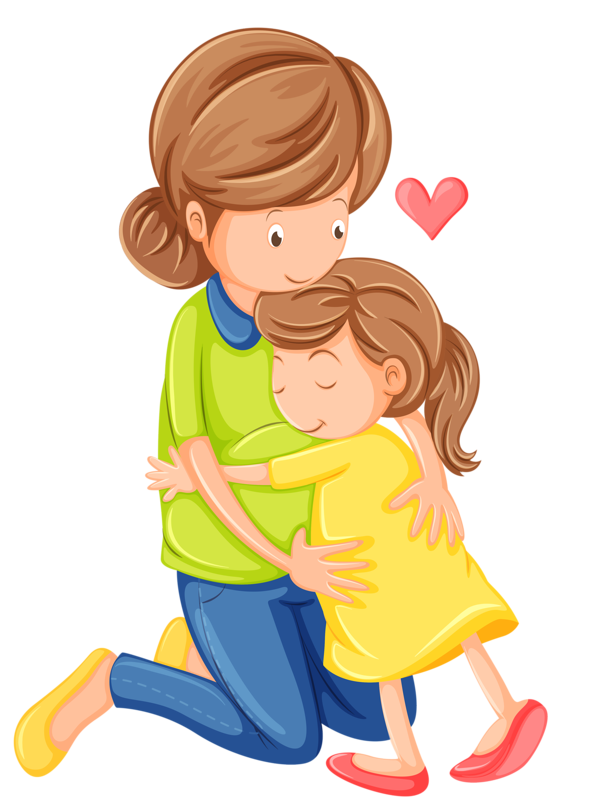 Mother And Daughter Hug Png - Buy Love Of A Mother And Daughter By Interactimages On Graphicriver. Illustration Of A Love Of A Mother And A Daughter On A White Background, Transparent background PNG HD thumbnail