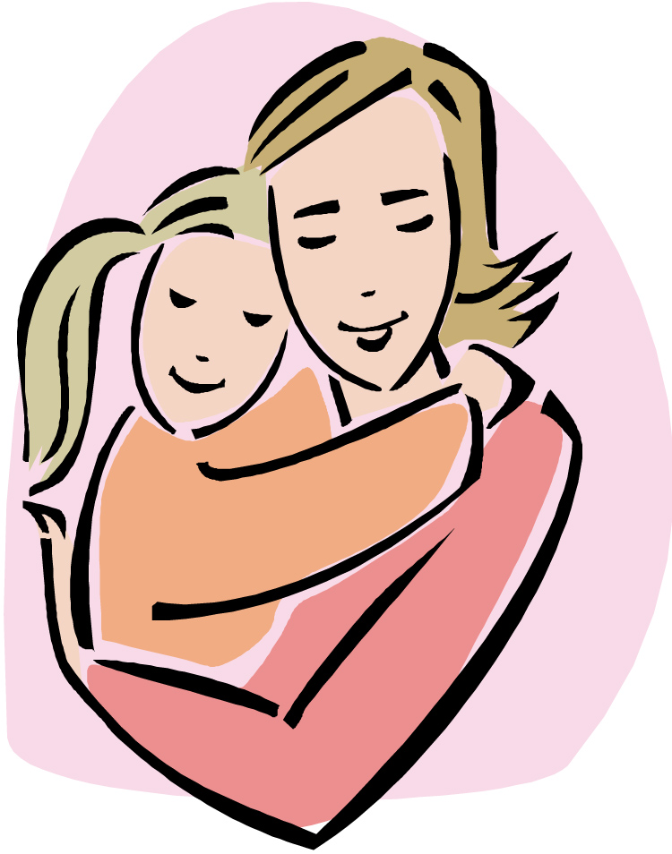 Mother And Daughter Hug Png - Mother, Transparent background PNG HD thumbnail