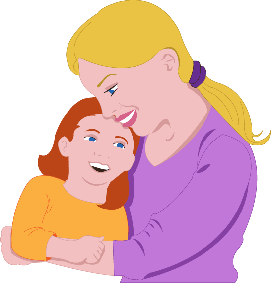 Mother And Daughter Hug Png - Mother And Daughter Clipart. Girl Hugging Mom Clipart, Transparent background PNG HD thumbnail