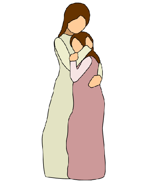 Mother And Daughter Hug Png - Mother Daughter Hug, Transparent background PNG HD thumbnail