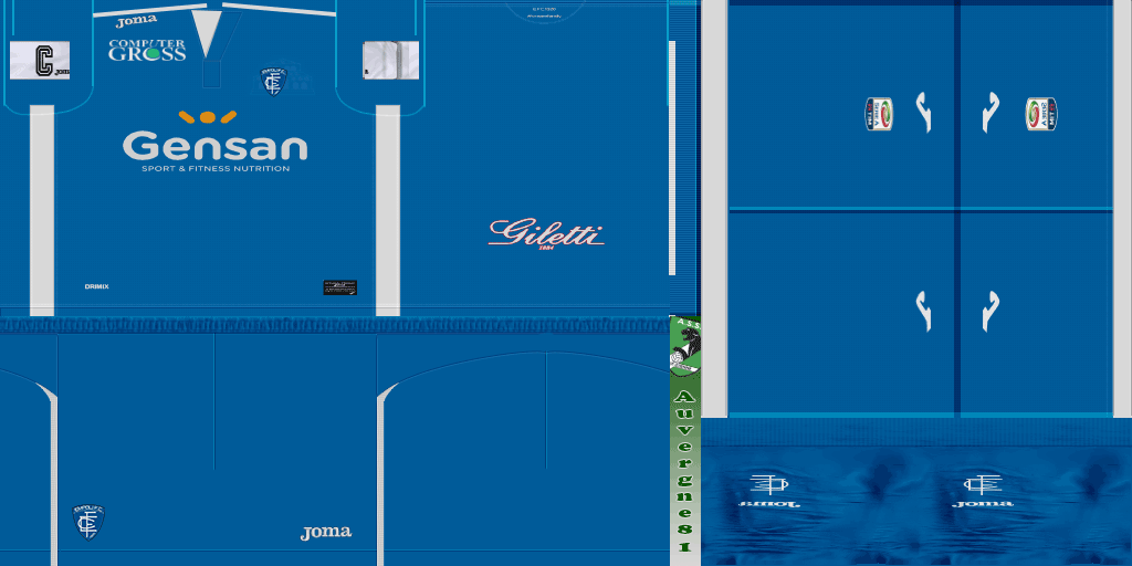 . Hdpng.com Pes 2013 Empoli Home Kit 16 17 By Auvergne81 - New Empoli Fc, Transparent background PNG HD thumbnail