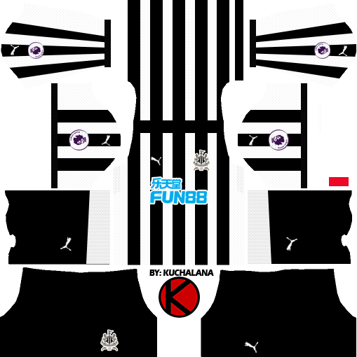 Newcastle United Fc Kits 2017/2018   Dream League Soccer - Newcastle United, Transparent background PNG HD thumbnail