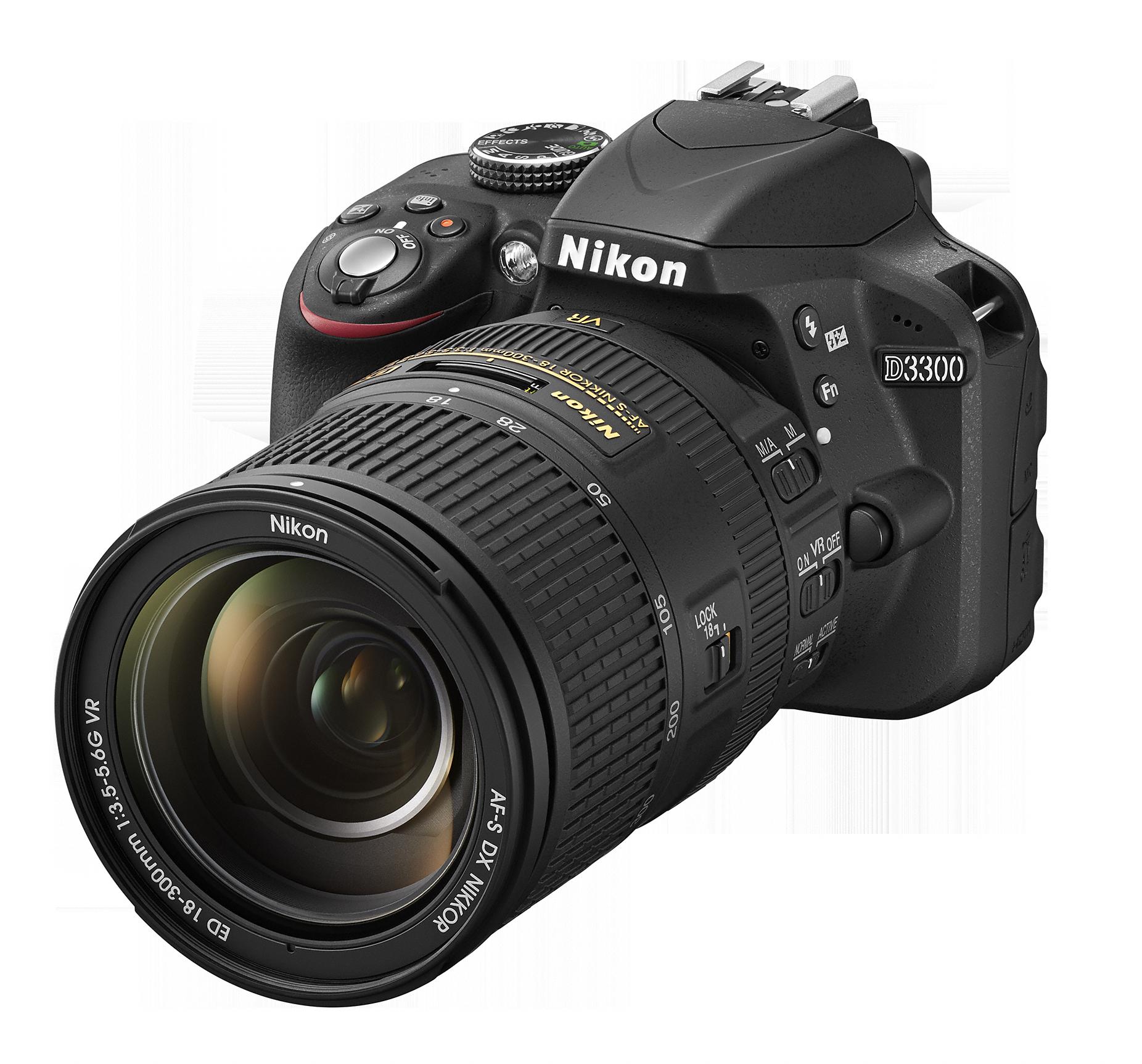 D3300_Bk_18_300.png - Nikon, Transparent background PNG HD thumbnail