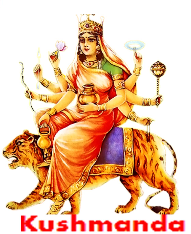 Nine Forms Or Names Of Goddess Durga   4 Kushmanda Puja - Goddess Durga Maa, Transparent background PNG HD thumbnail