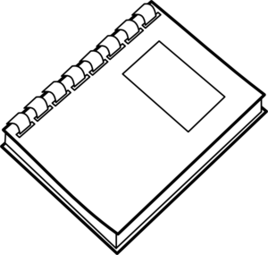 Note Book PNG Black And White
