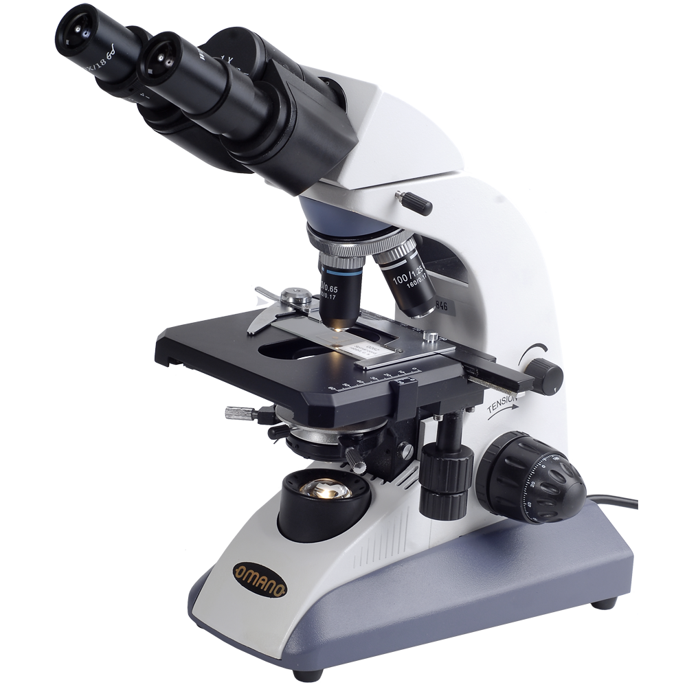 Omano Om157B Compound Microscope - Microscope, Transparent background PNG HD thumbnail