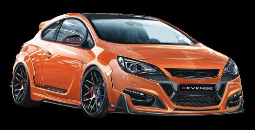 Opel Astra Gtc Revenge Orange Car Png Image - Opel, Transparent background PNG HD thumbnail