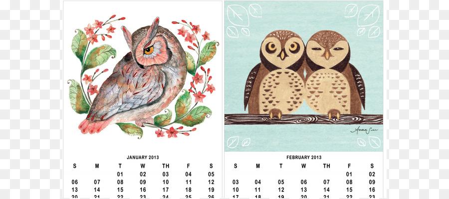 Owl Calendar Png - Barn Owl Calendar Bird Illustration   9 December Calendar Cliparts, Transparent background PNG HD thumbnail