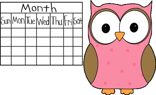 Owl Calendar Png - Owl Classroom Calendar Job, Transparent background PNG HD thumbnail