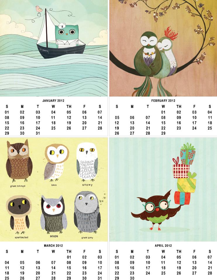 Owl Calendar Png - Owl Lover Calendar 2012, Transparent background PNG HD thumbnail