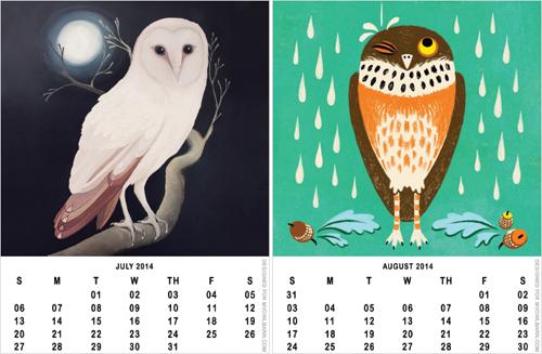 Owl Calendar Png - Printable 2014 Owl Calendar Freebie, Transparent background PNG HD thumbnail