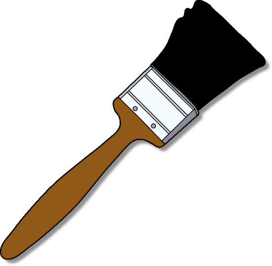 Paint Brush Clip Art Png - Paint Brush, Transparent background PNG HD thumbnail