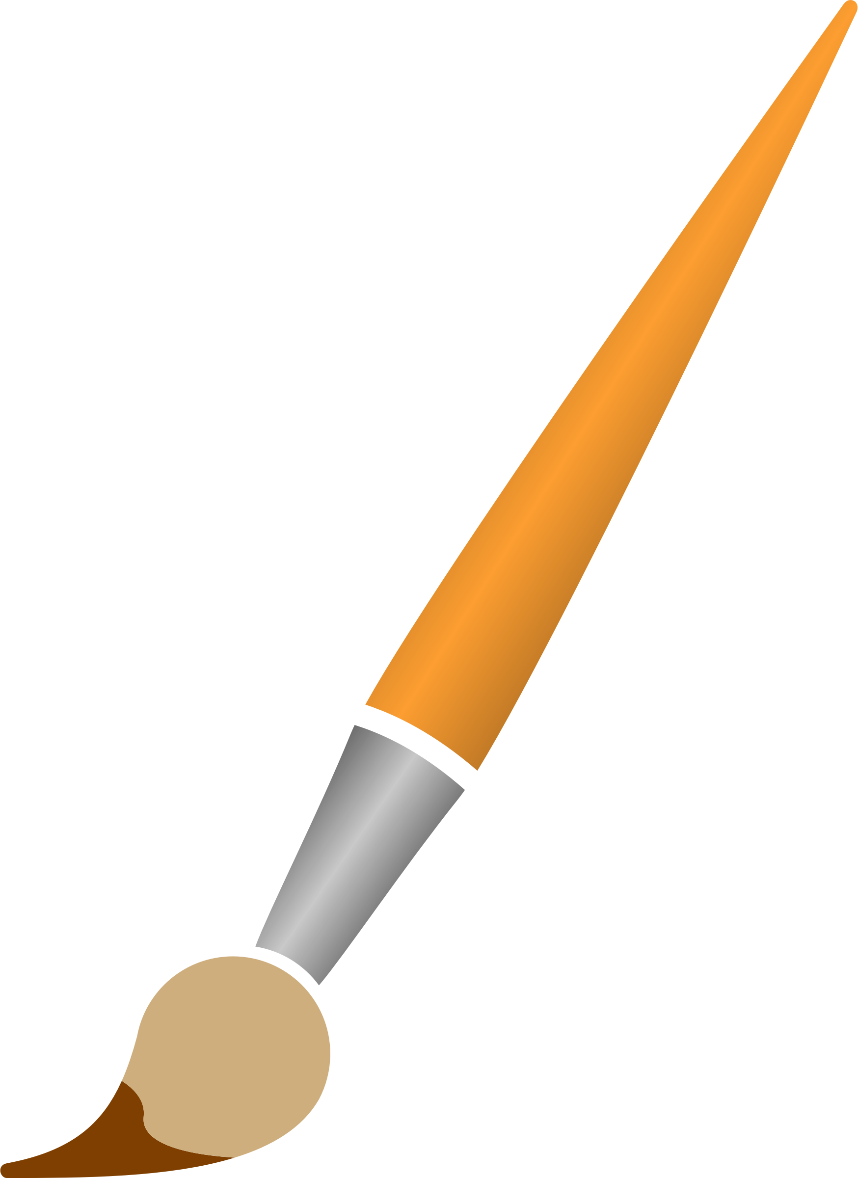 Paint Brush With Brown Dye - Paint Brush, Transparent background PNG HD thumbnail