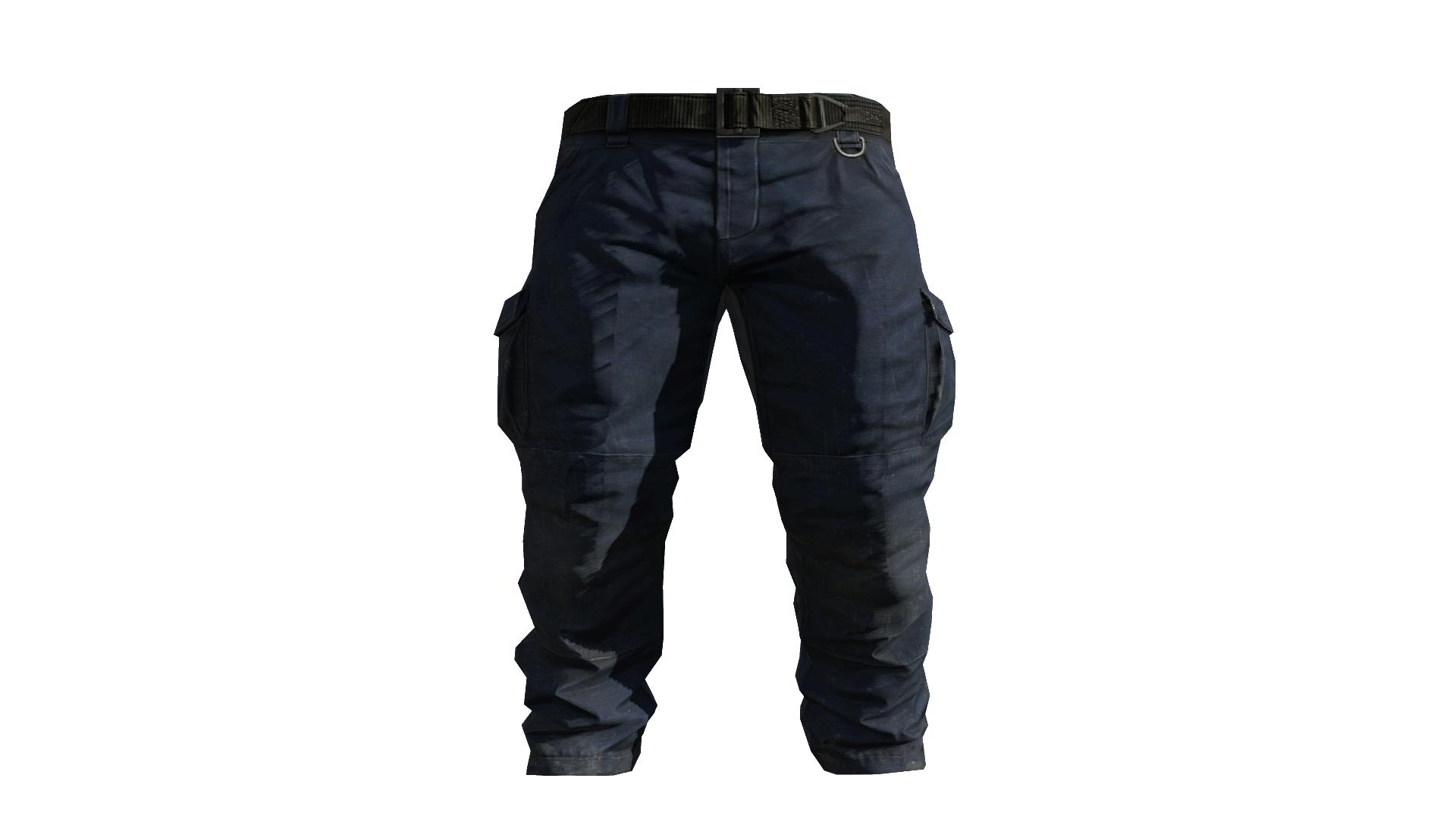 Blue Cargo Pants Model (P W).png - Pants, Transparent background PNG HD thumbnail