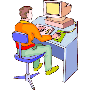 People Using Computer Png - Man At Computer 3, Transparent background PNG HD thumbnail
