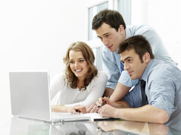 People Using Computer Png - People At Computer. We Provide Actionable, High Quality Solutions Regardless Of The Project Size., Transparent background PNG HD thumbnail